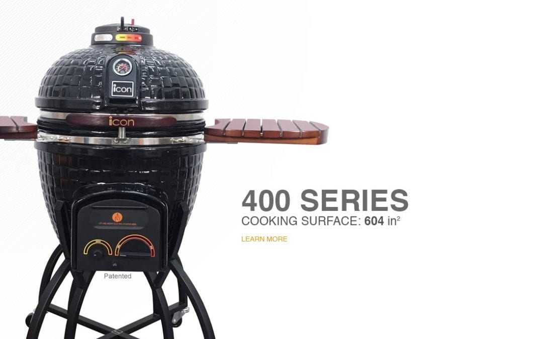 400 Series Icon Kamado Cooker Now at BeerSauce Shop